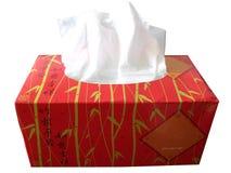 Caixa vermelha do papel de tecido Imagem de Stock