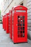 Caixa vermelha do telefone em Londres Fotos de Stock Royalty Free