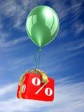 Caixa vermelha dos por cento ilustração stock