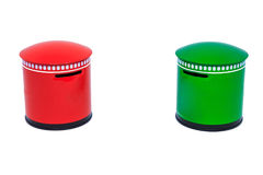Caixa vermelha e verde do cargo Fotografia de Stock