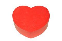 Caixa vermelha Heart-shaped imagens de stock