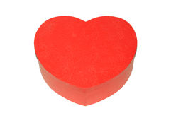 Caixa vermelha Heart-shaped fotografia de stock royalty free