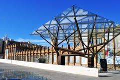 CaixaForum Barcelona, i Barcelona, Spanien Royaltyfri Bild