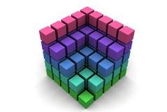 caixas 3d Imagem de Stock