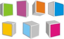 caixas 3D Fotografia de Stock Royalty Free