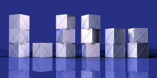 Caixas azuis 1 do ferro Fotos de Stock Royalty Free
