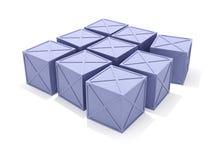 Caixas azuis ilustração do vetor
