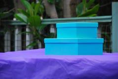 Caixas azuis Imagens de Stock Royalty Free