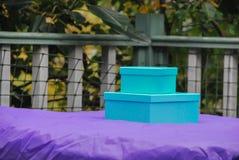 Caixas azuis Foto de Stock