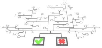 Caixas bem escolhidas da relação ilustração do vetor