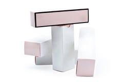 Caixas brancas Imagens de Stock
