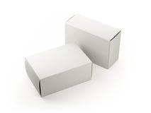 Caixas brancas vazias Fotos de Stock