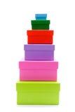 Caixas coloridas Fotografia de Stock