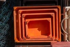 Caixas coloridas da caixa de madeira para a venda Fotografia de Stock Royalty Free