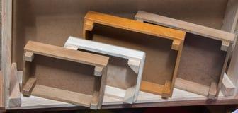 Caixas coloridas da caixa de madeira para a venda Fotos de Stock Royalty Free