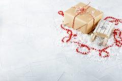Caixas com presentes do Natal Imagem de Stock