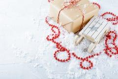 Caixas com presentes do Natal Imagens de Stock Royalty Free