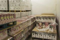 Caixas com vinho no Vale de Aosta Imagens de Stock Royalty Free