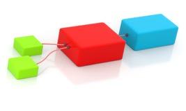 Caixas conectadas ilustração do vetor