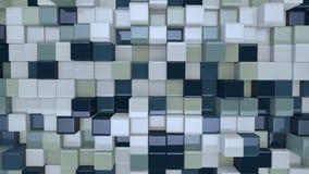 Caixas 3D azuis e brancas ilustração stock