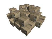 Caixas da carga Imagem de Stock