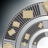 Caixas da correia transportadora do arco Fotografia de Stock