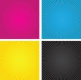 Caixas da espiral de Cmyk Imagem de Stock