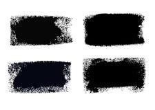Caixas da pintura do curso da escova ajustadas Foto de Stock