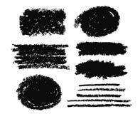 Caixas da pintura do curso da escova ajustadas Imagem de Stock Royalty Free
