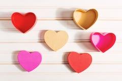 Caixas dadas forma coração do dia do ` s do Valentim Fotografia de Stock Royalty Free