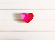 Caixas dadas forma coração do dia do ` s do Valentim Foto de Stock Royalty Free