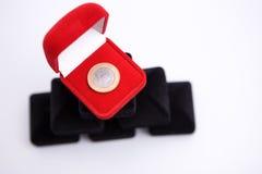 Caixas das jóias com moeda Foto de Stock