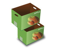 Caixas de Apple Imagem de Stock Royalty Free