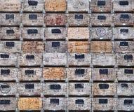 Caixas de Apple na colheita Imagens de Stock