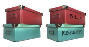 Caixas de armazenamento Fotos de Stock Royalty Free