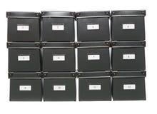Caixas de armazenamento Fotografia de Stock
