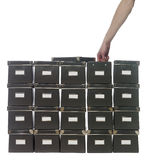 Caixas de armazenamento Fotos de Stock