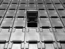 Caixas de armazenamento do componente eletrônico fotografia de stock royalty free
