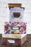 Caixas de armazenamento empilhadas junto fotos de stock royalty free