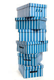 Caixas de cartão em uma pilha Fotos de Stock