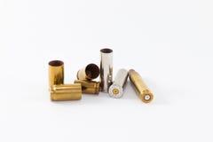 Caixas de cartucho ateadas fogo, vários calibres Fotografia de Stock