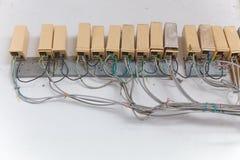 Caixas de conexão velhas do telefone Fotos de Stock Royalty Free