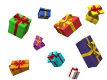 caixas de cor 3d Fotografia de Stock