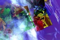 Caixas de cor abstratas Fotografia de Stock
