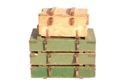 Caixas de debaixo dos shell foto de stock