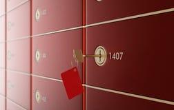 Caixas de depósito seguro 2 Fotografia de Stock Royalty Free