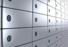 Caixas de depósito seguro 2 Foto de Stock