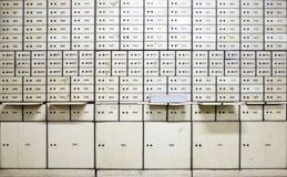 Caixas de depósito seguro antigas imagem de stock