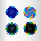 Caixas de diálogo coloridas Ilustração Stock