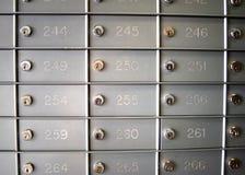 Caixas de estação de correios foto de stock